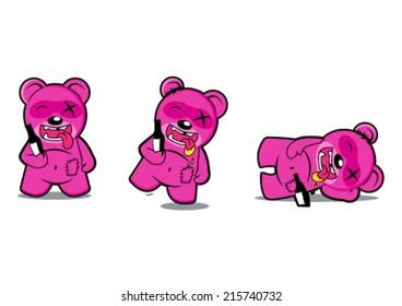 Drunk Bear Cartoon