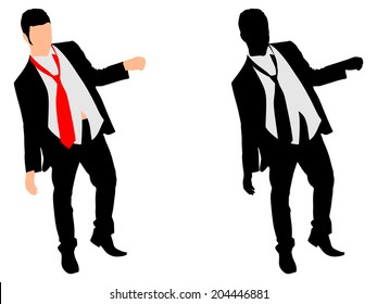 Drunk Businessman, vector