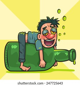 drunk man images  stock photos   vectors shutterstock Funny Beer Clip Art Flu Shot