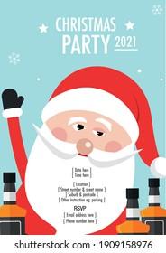Drunk Santa Claus Christmas Party