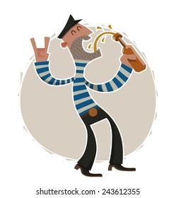 Drunken sailor, vector