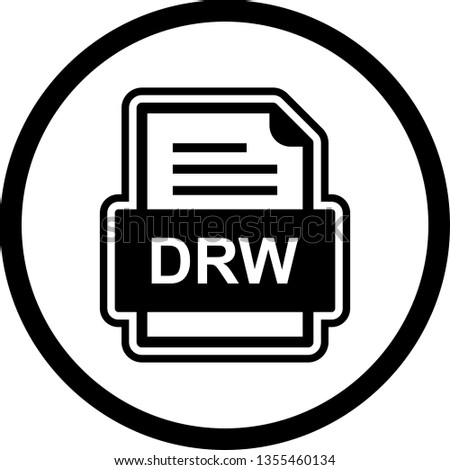 DRW File Document Icon Stock Vector (Royalty Free) 1355460134