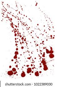 Dry blood splatter. Modern background. Vector illustration.