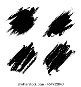 Dry brush strokes vector with jagged edges. Abstract background.
