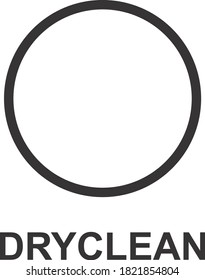 DRY CLEAN ICON, SIGN AND SYMBOL