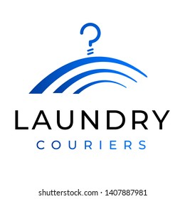 dry cleaning laundry alterations clothes repair business logo template icon