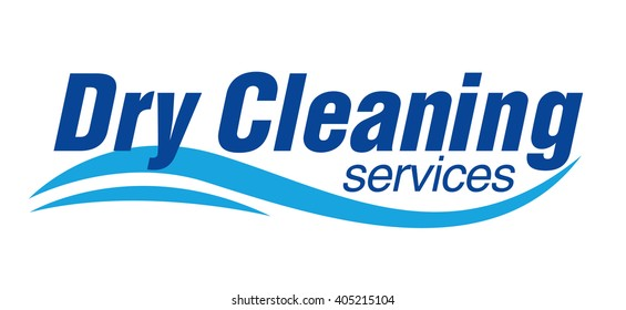 Dry cleaning service logo template