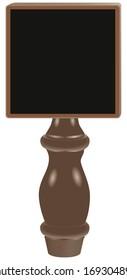 Dry erase tap board Beer Tap Handle. Vector illustration.