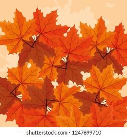 dry leaves design