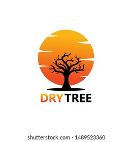 Dry Trees Logo Template Design Vector, Emblem, Design Concept, Creative Symbol, Icon