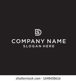 DS logo icon design vector