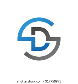 DS SD initial company circle S logo blue