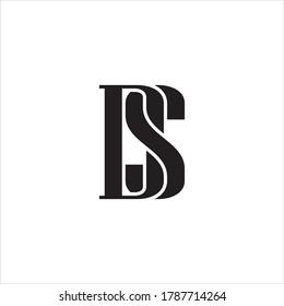 DS or SD letter logo design.
