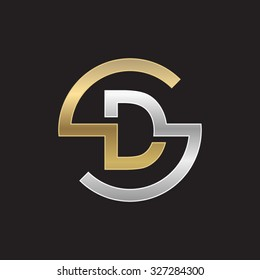DS or SD letters, golden silver circle S shape
