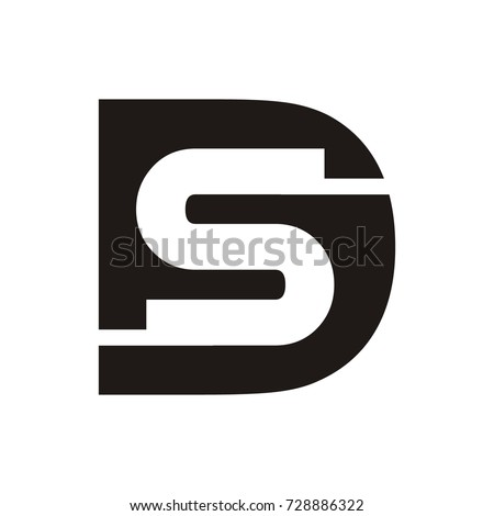 ds sd logo initial letter template stock vector royalty free