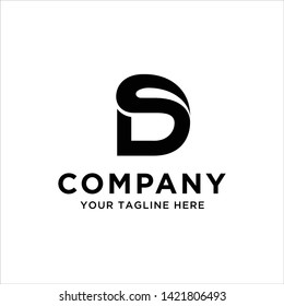 DS or SD logo template, vector file eps 10 color and text is easy to edit