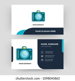 dslr business card design template visiting for your company modern creative and clean
