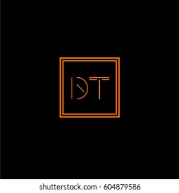 dt logo letter initial, Abstract Polygonal Background Logo, design for Corporate Business Identity,flat icon, Alphabet letter