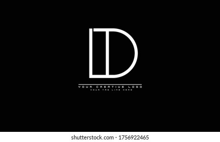 DT TD abstract vector logo monogram template