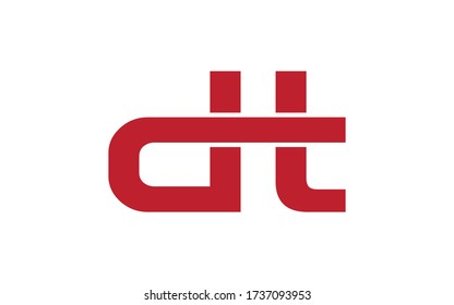 dt or td Letter Initial Logo Design, Vector Template