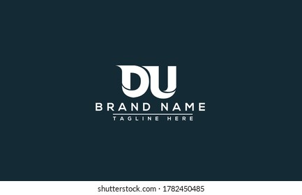 DU Logo Design Template Vector Graphic Branding Element.