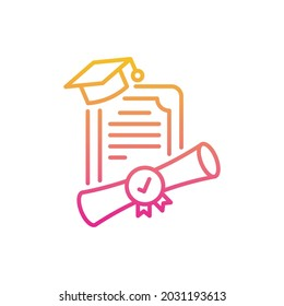 Dual degree vector gradient icon style illustration. EPS 10 File