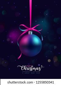 Dual tone Elegant Christmas Greeting Card