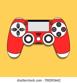 DualShock 4 gamepad for PlayStation 4. Modern design. Vector illustration. EPS10.