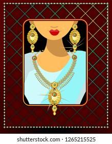 Dubai bride jewelry sets for women.Dubai gold souk.South Indian bridal jewellery.