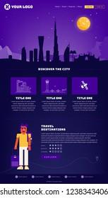 Dubai City Webpage Design Template