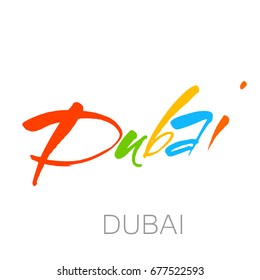 DUBAI LOGO. Idea for Arabic Logos and Dubai events. Vector template.