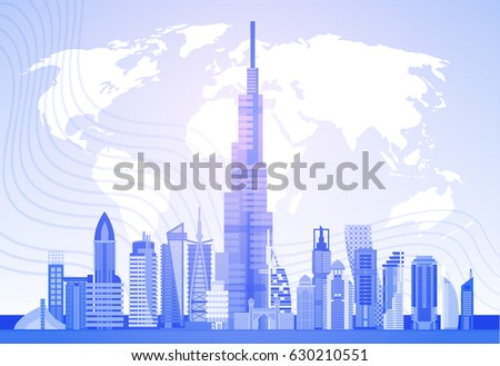 Dubai On The World Map on
