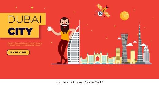 Dubai Skyline Web Page Banner Design