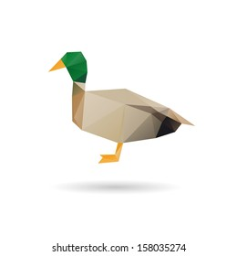 Duck abstract  isolated on a white backgrounds, vector illustration
