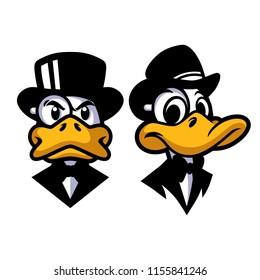 Duck in Black Design Vector