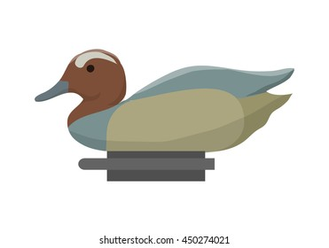 Duck decoy for duck hunting. Vector illustration