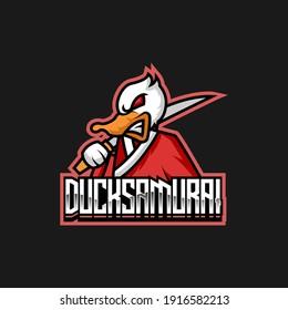 Duck esport logo design mascot
