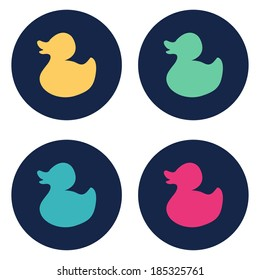 Duck flat icon. Vector illustration
