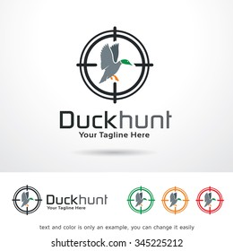 Duck Hunt Logo Template Design Vector