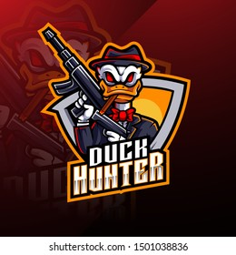 Duck hunter esport mascot logo design
