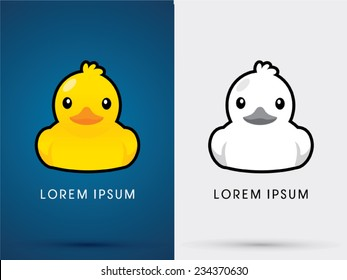 Duck icon, graphic, symbol, logo, Vector.