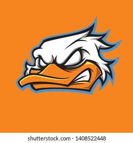 Duck Mascot For Your Team Logo Tempate