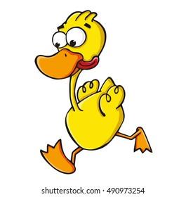 duck running