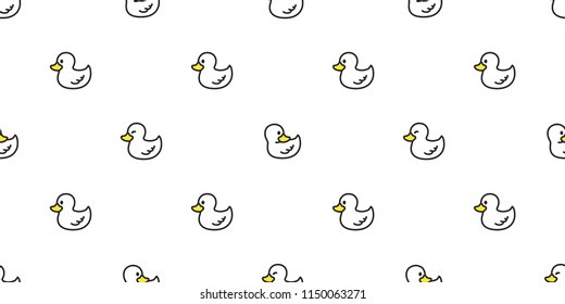 duck seamless pattern vector rubber duck tile background repeat wallpaper scarf isolated illustration
