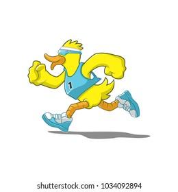 Duck Sports Running or Marathon