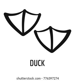Duck step icon. Simple illustration of duck step vector icon for web
