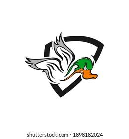 The Ducks logo design inspiration for club. Duck mascot logo design.EPS 10