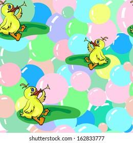 Ducks And Soap Bubbles