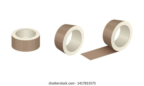 Duct tape roll vector design illustration isolated on white background