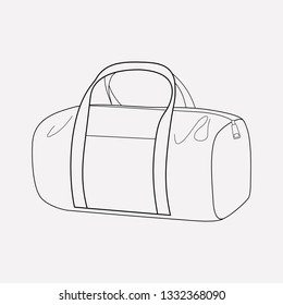 Duffel bag icon line element. Vector illustration of duffel bag icon line isolated on clean background for your web mobile app logo design.